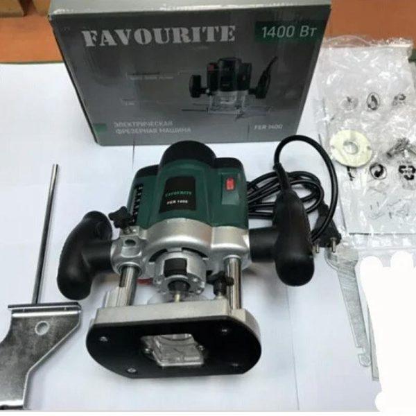 Надежный Фрезер Favourite FER 1400 набором цанг 6 и 8мм машина фрезерная кромочник